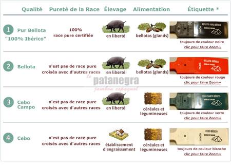 Qualità e tipi di prosciutto pata negra
