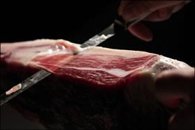 Tagliare taglio prosciutto pata negra